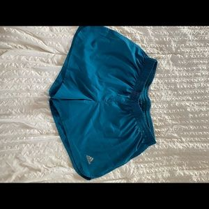 Teal Adidas Running Shorts.